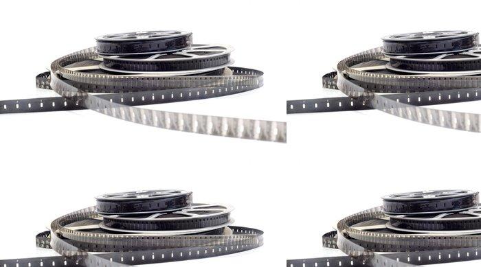Vinylová Tapeta Černá a bílá film - filmové kamery - Zábava