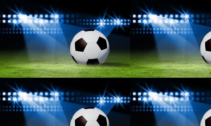 Tapeta Pixerstick Černá a bílá fotbalový míč - Týmové sporty