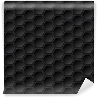 Vinylová Tapeta Černá mřížka bezproblémové vzorek