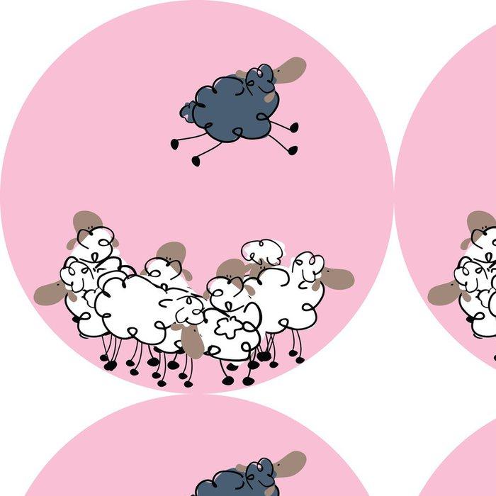 Tapeta Pixerstick Černá ovce - Savci