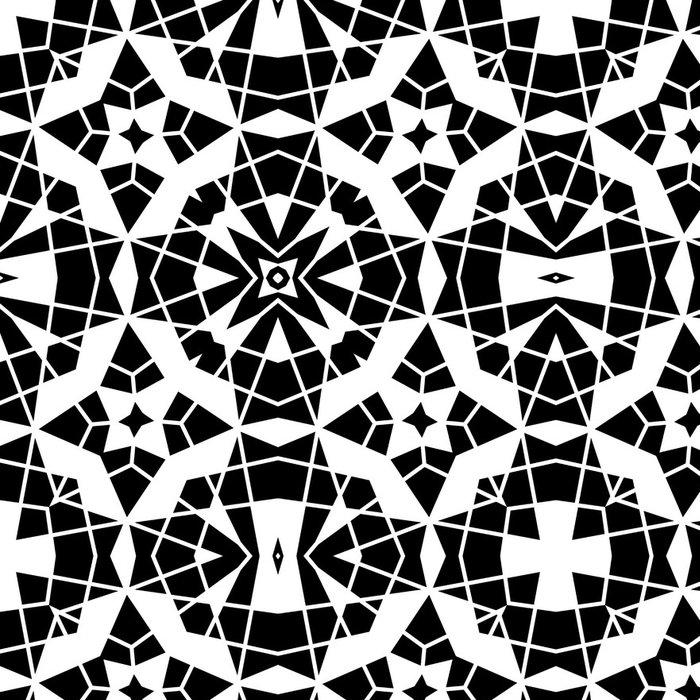Tapeta Pixerstick Černé a bílé krajky, geometrický vzor bezešvé - Pozadí