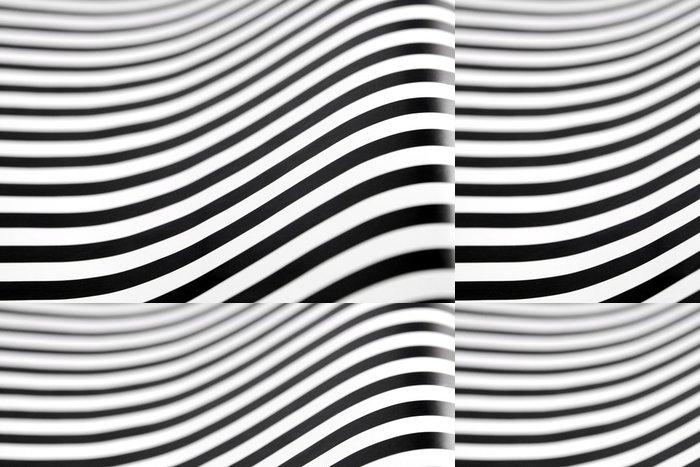 Tapeta Pixerstick Černé a bílé pruhy s uměleckou efektem op - Pozadí