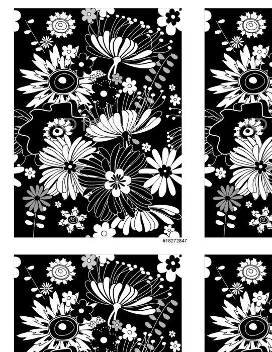 Vinylová Tapeta Černé květinové pozadí - Domov a zahrada