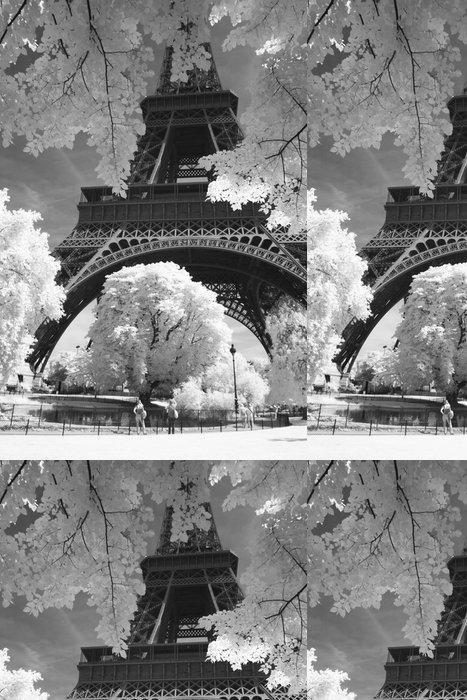 Tapeta Pixerstick Černobílé fotografie Eiffel - Styly