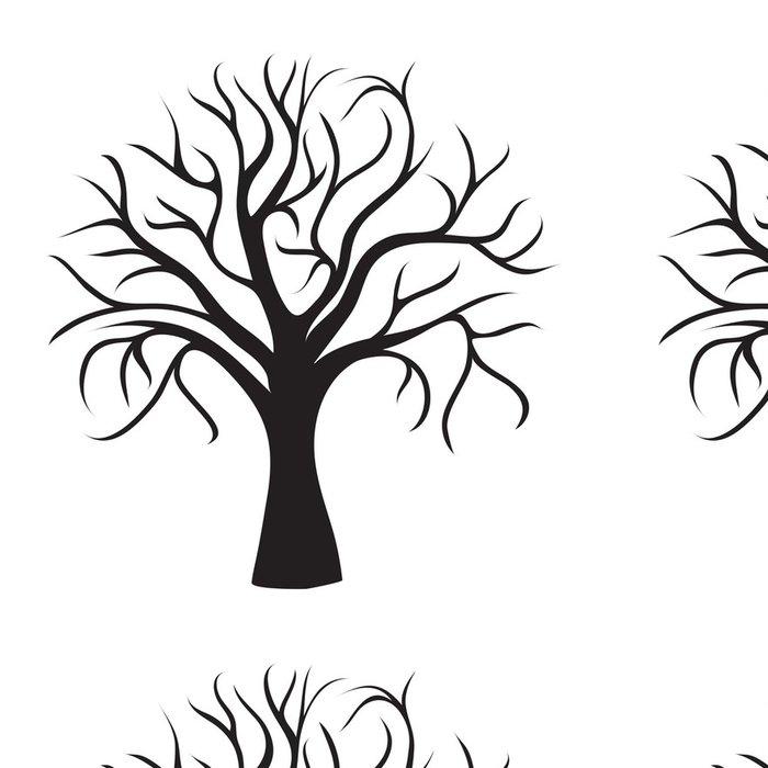 Tapeta Pixerstick Černý strom bez listí - Nálepka na stěny