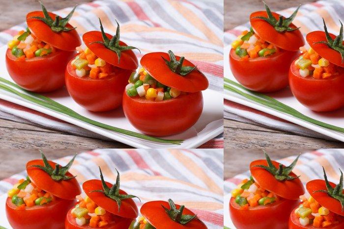 Tapeta Pixerstick Čerstvá rajčata plněná zeleninovým salátem - Témata