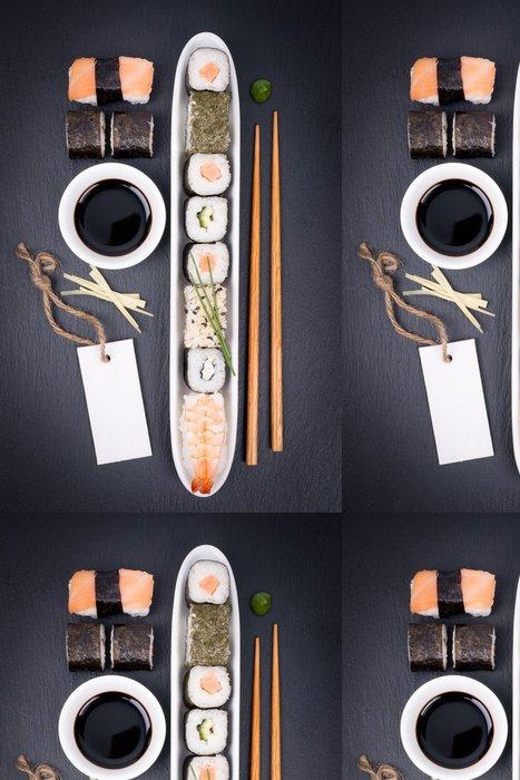 Vinylová Tapeta Čerstvé sushi, štítek - Sushi