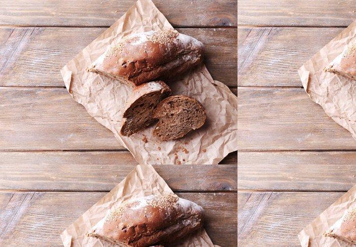 Tapeta Pixerstick Čerstvý chléb na dřevěném pozadí - Témata