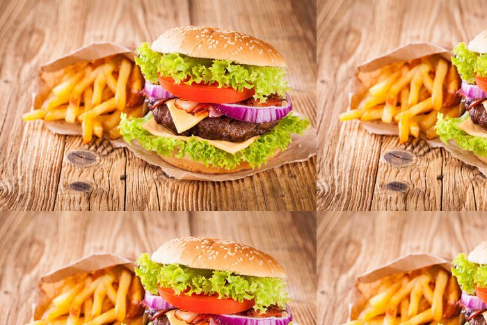 Tapeta Pixerstick Čerstvý hamburger - Témata