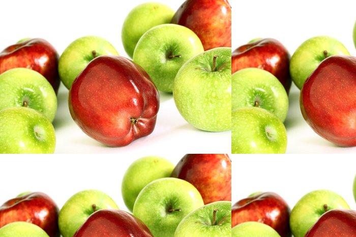 Tapeta Pixerstick Červená a zelená jablka - Ovoce