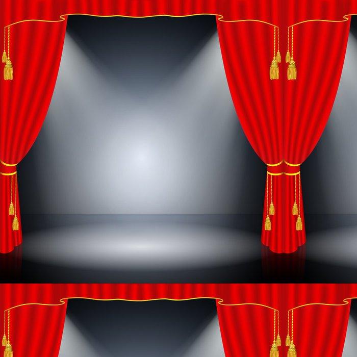 Tapeta Pixerstick Červená opona na černém pozadí - Pozadí