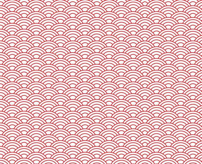 Tapeta Pixerstick Červená vlna vzor - Pozadí
