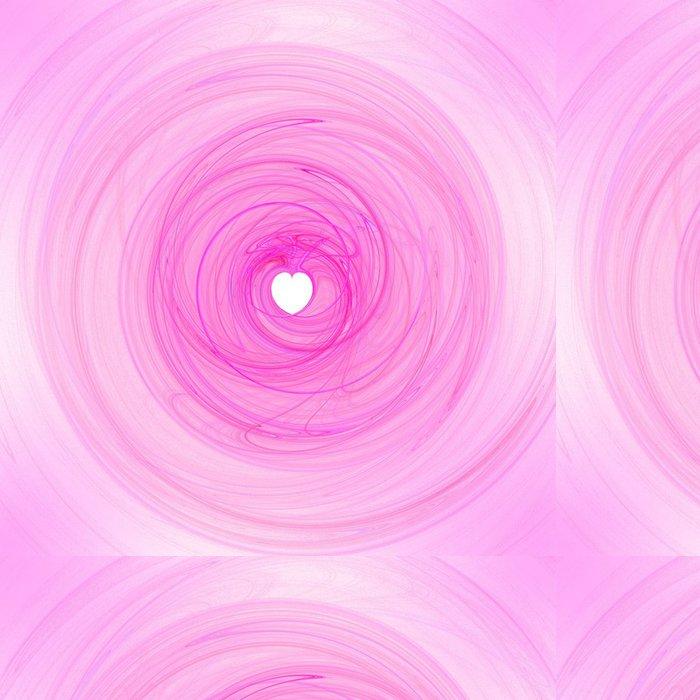 Tapeta Pixerstick Červené srdce - počítač fraktální ilustrace - Abstraktní