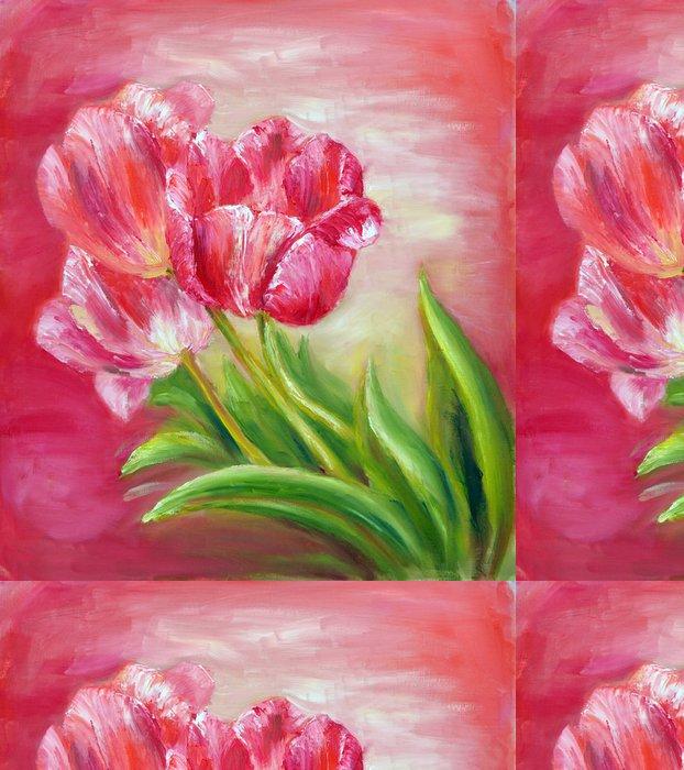 Tapeta Pixerstick Červené tulipány - Témata