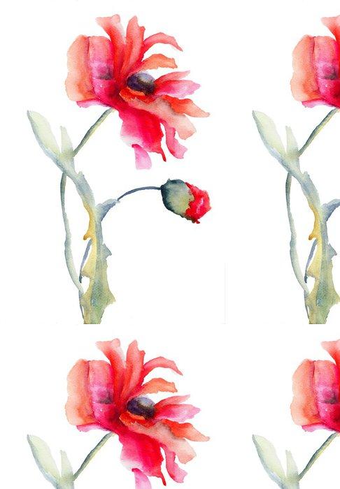 Tapeta Pixerstick Červený mák květiny - Květiny