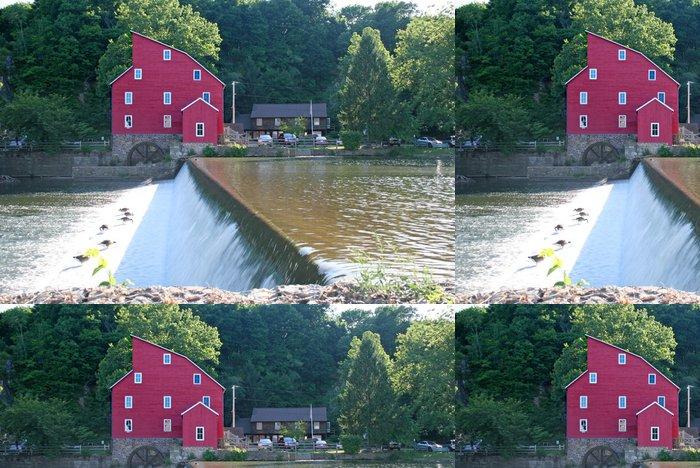 Tapeta Pixerstick Červený mlýn v Clinton, NJ - Město