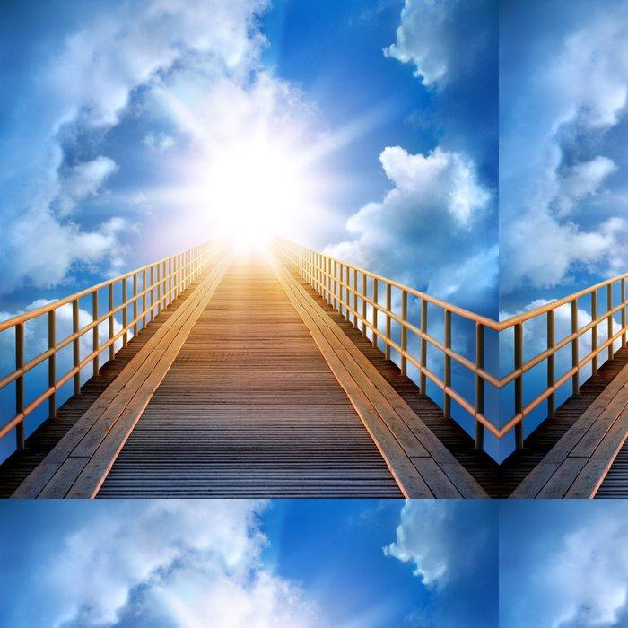 Tapeta Pixerstick Cesta na obloze - Nebe
