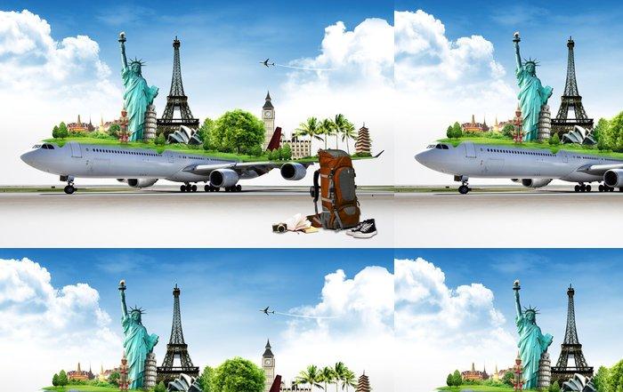 Tapeta Pixerstick Cestovat po světě letadlem, koncept - Prázdniny