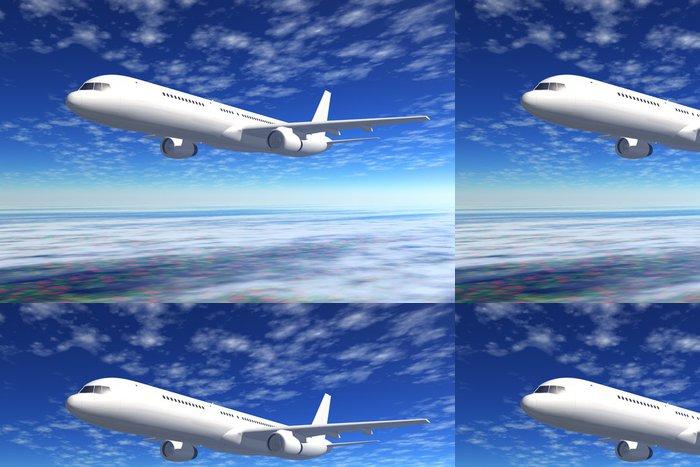 Tapeta Pixerstick Cestující letadlo letu na modré obloze - Témata