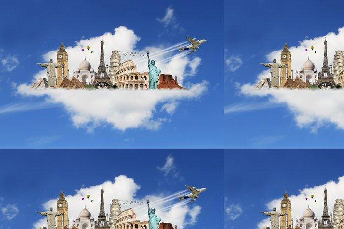 Tapeta Pixerstick Cestujte po světě památky mraky koncepce - Prázdniny
