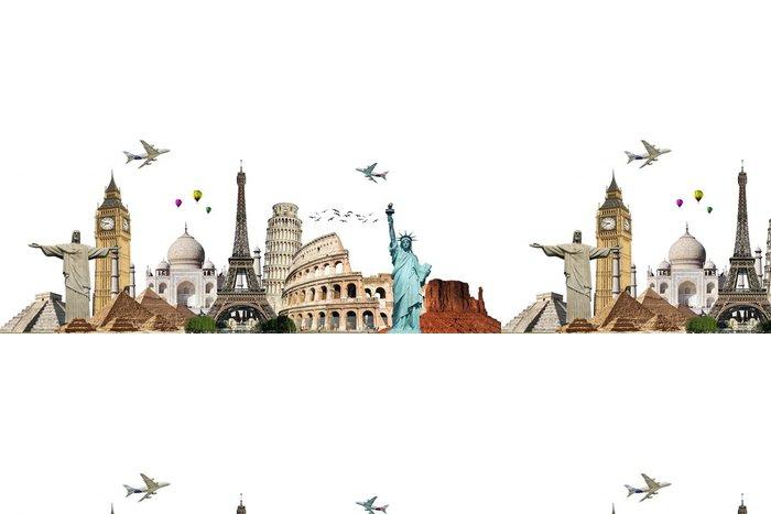 Tapeta Pixerstick Cestujte po World Monuments Concept 6 - Nálepka na stěny