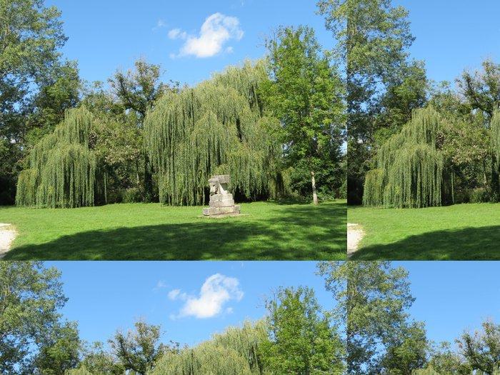 Tapeta Pixerstick Cher - Mehun-sur-Yevre - Le Parc et ses Saules pleureurs - Prázdniny