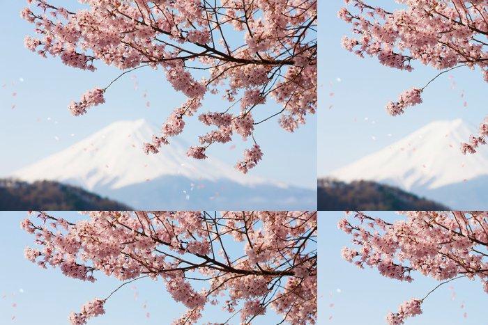 Tapeta Pixerstick Cherry Blossom lístků vlající - Témata