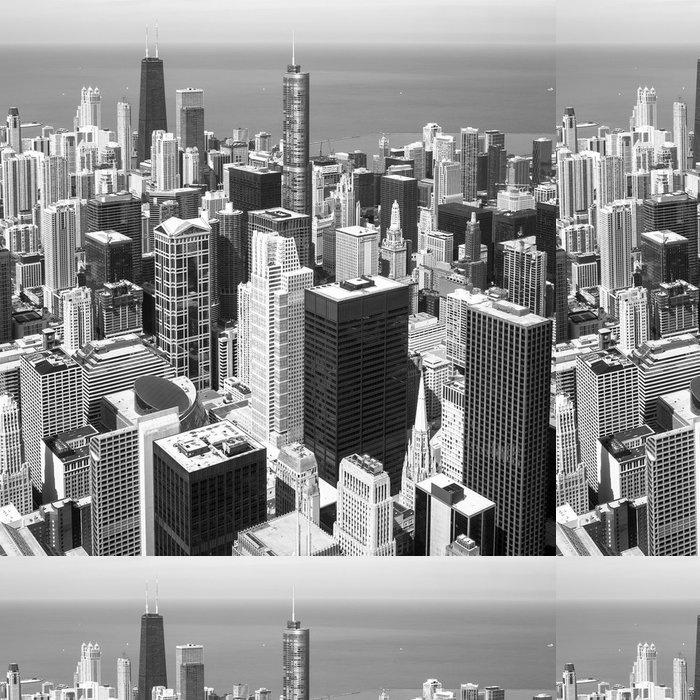 Vinylová Tapeta Chicago skyline letecký pohled - Amerika