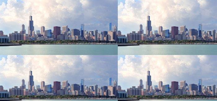 Tapeta Pixerstick Chicago skyline nad jezerem Michigan - Amerika