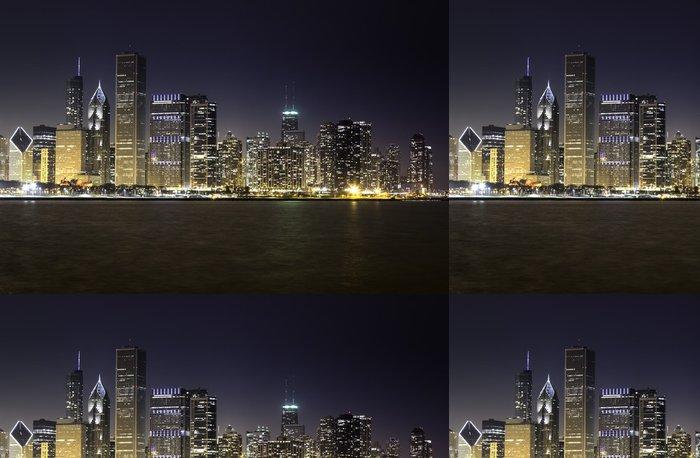 Tapeta Pixerstick Chicago skyline v noci - Situace v podnikání