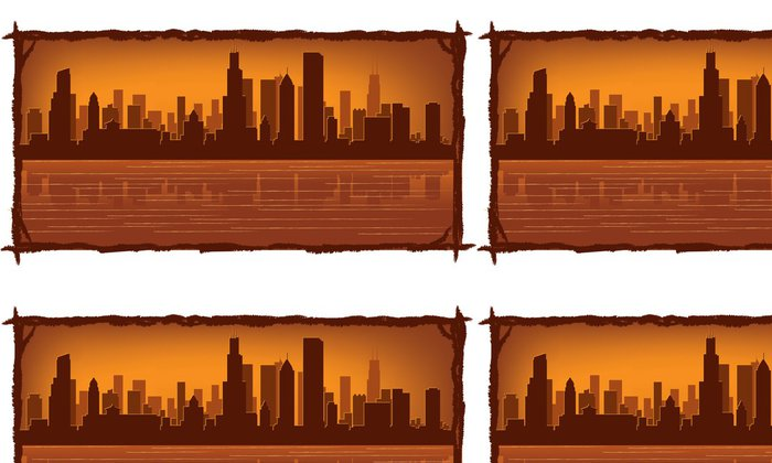 Tapeta Pixerstick Chicago skyline - Amerika
