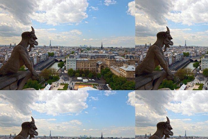Tapeta Pixerstick Chimera při pohledu na Paříž, Francie. - Evropská města