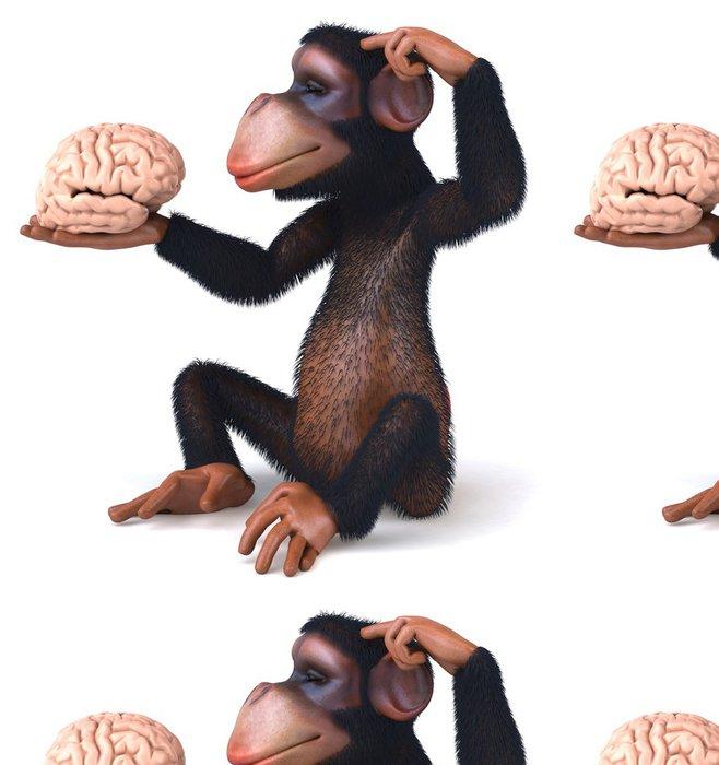 Tapeta Pixerstick Chimp a mozku - Značky a symboly