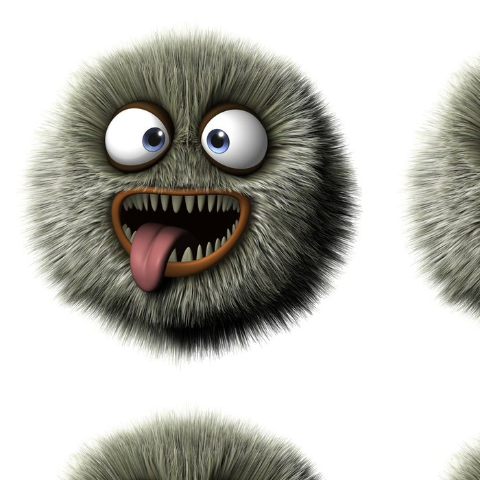 Tapeta Pixerstick Chlupatý zvíře - Imaginární zvířata