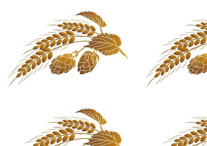 Tapeta Pixerstick Chmel a pšenice - Rostliny