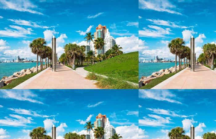 Vinylová Tapeta Chodník v krásném parku na jih Pointe v Miami Beach, Flo - Severní Amerika