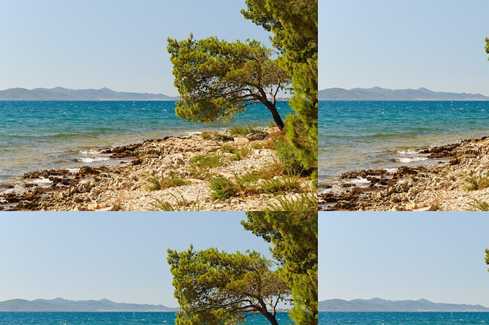 Tapeta Pixerstick Chorvatsko pláž - Evropa