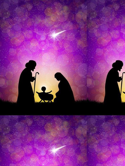 Tapeta Pixerstick Christmas nativity scene - Mezinárodní svátky