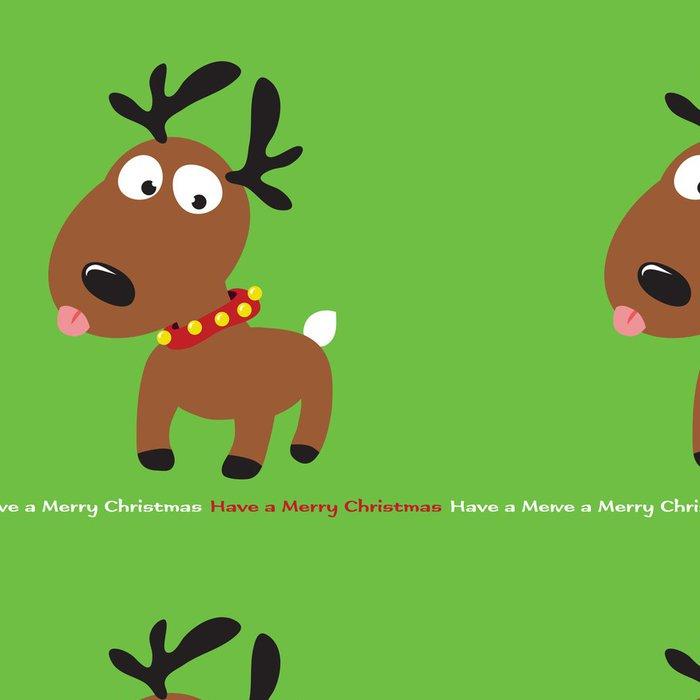 Vinylová Tapeta Christmas Reindeer (odnímatelné text) - Mezinárodní svátky