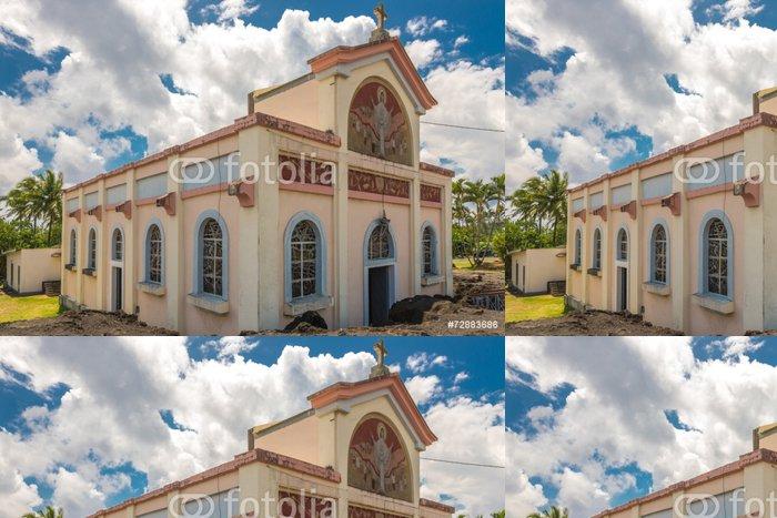 """Tapeta Pixerstick Church """"Notre Dame des Lavesova"""" v Piton Sainte Rose - Veřejné budovy"""