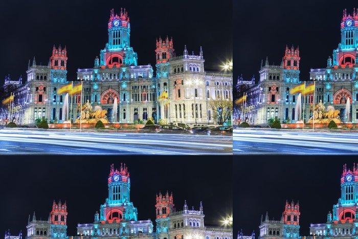 Tapeta Pixerstick Cibeles náměstí Vánocích, Madrid, Španělsko - Evropská města