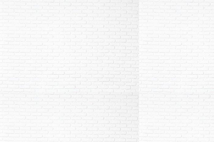 Tapeta Pixerstick Cihla bílá zeď - Struktury