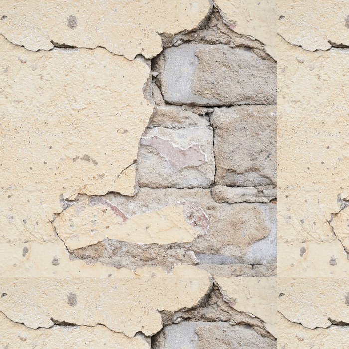 Tapeta Pixerstick Cihlová zeď s vápno odpadávat - Struktury