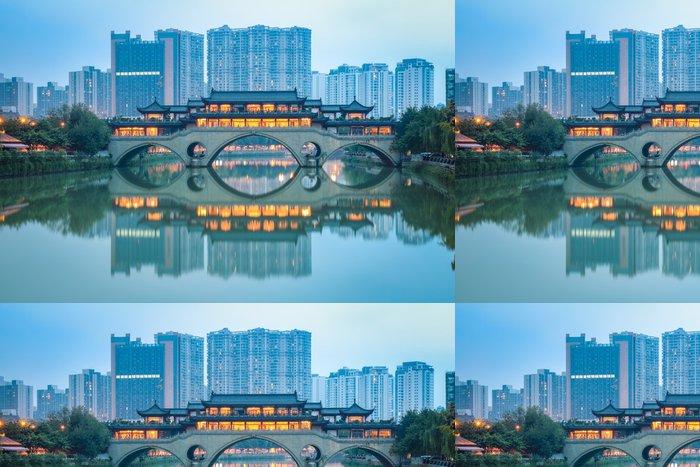 Vinylová Tapeta Čínština Anshun most za soumraku - Infrastruktura