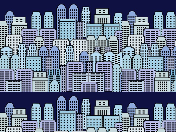 Tapeta Pixerstick City ilustrace - mrakodrap metropole vektor - Město