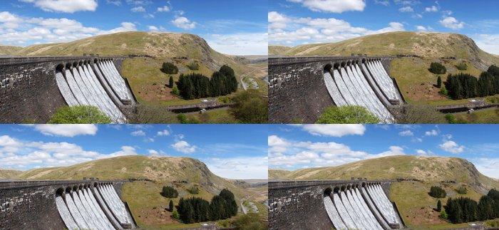 Tapeta Pixerstick Claerwen přehradní nádrž panorama, Elan Valley Wales UK. - Infrastruktura
