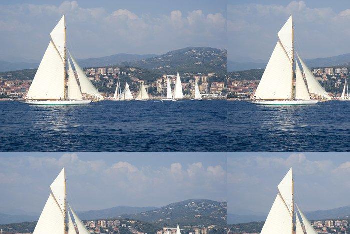 Tapeta Pixerstick Classic yacht regatta - Vodní sporty