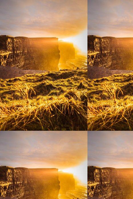 Tapeta Pixerstick Cliffs of Moher při západu slunce v hrabství Clare, Irsko Evropě - Evropa