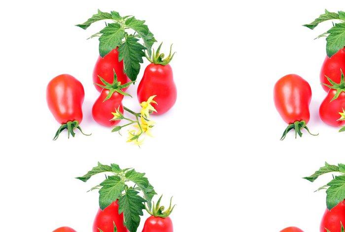 Vinylová Tapeta Close-up, odrůda červená rajčata, zelená listová - Témata