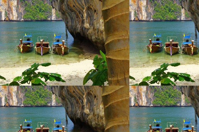 Tapeta Pixerstick Čluny a ostrovy - Přírodní krásy